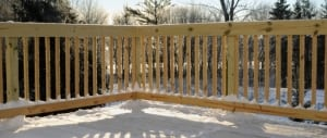 Deck in Winter – New Jersey Siding & Windows