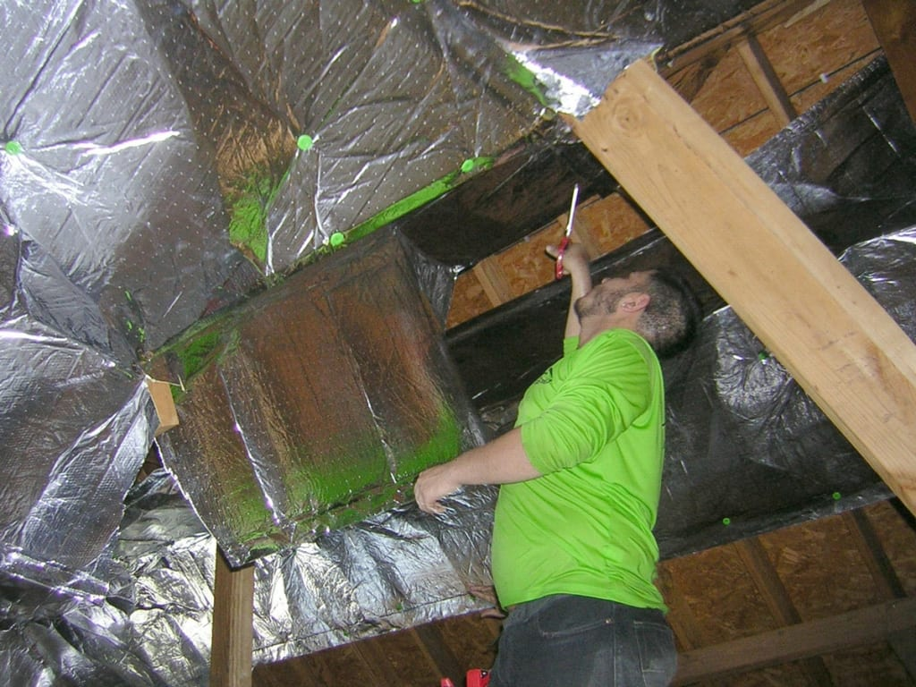 Attic Foil Barrier installation in New Jersey