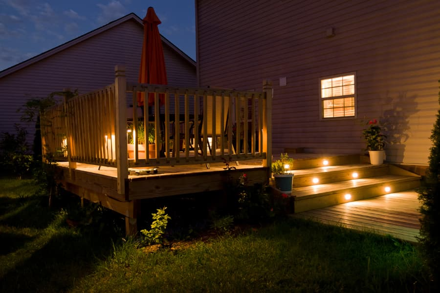 Deck With Lights New Jersey Siding Amp Windows